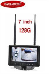 """Commerce de gros 7"""" Quad-View numérique sans fil 2.4G moniteur LED pour voiture/bus/chariot/véhicule lourd"""