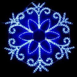 Licht van de Sneeuwvlok van de Decoratie van de LEIDENE Tijd van Kerstmis het Lichte