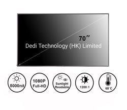 Кнессета Деди 70 дюйма 3000 нит 4K для использования вне помещений ЖК монитор рекламы