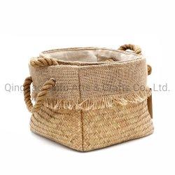 Almacenamiento de la hierba de mar natural cestas para el dormitorio, vestidor, juguetes