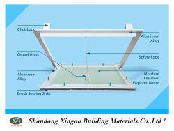 El techo de aluminio Control Panel de acceso con planchas de yeso