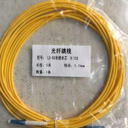 Faser-Optikkabel-Faser-Optiksteckschnür Sc-Sc/Upc Simplexsingle-Mode für Testgerät des Fernmeldenetz-CATV