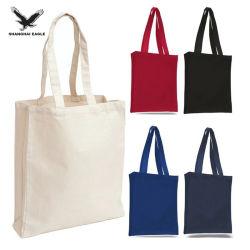 Dama portadora de moda bolso de viaje, el 100% ecológica reciclar el cordón de tela Mochila Bolsa de compras, promoción Logotipo personalizado lienzo de algodón Bolso