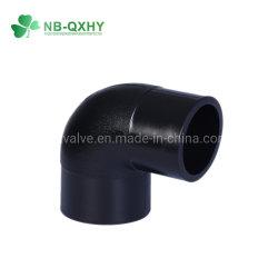Le PEHD 90deg le coude du raccord de tuyau de socket pour l'eau, pétrole, gaz