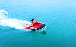 De drijvende Motorboot van Watercraft van de Fiets van de Fiets van het Water voor Één Persoon