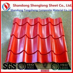 Prepainted bajo precio utiliza la hoja de acero corrugado galvanizado recubierto de color/hojas de techos de metal barato