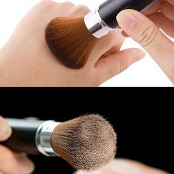 Fundação Oval Escova Macia Capota Espelho Ferramenta Beleza Kit de Viagem de escovas com cerdas sintético macio para enfrentar cosmético, Escova de corar Kabuki profissional