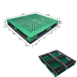Liyang Euro Size 1210 衛生用純 HDPE 倉庫輸出を使用しました プラスチックパレットヘビーデューティ再生耐久仕様スチール製コンビンドパレット 強化