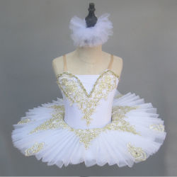 댄스위어 발레 투투 스완 레이크 플라워 드레스 걸 베일리나 발레 어린이를 위한 무대 공연 의상