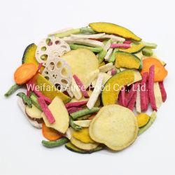 Crujientes snacks saludables vegetales bajos en calorías rodajas de Proveedor de verduras mezcladas de forma de fichas