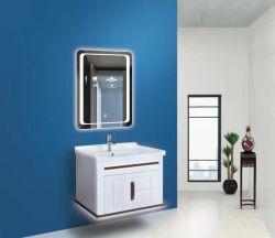 Estilo Europeu personalizada OEM montado na parede branca armário de casa de banho de PVC