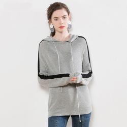 2019 New Women's Pullover tricoté Hoodie avec capuchon de gros pull