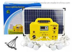 12V DC PV Kit de iluminación del panel de luces de emergencia arrojar luces Lámpara de ahorro de energía