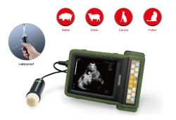 Scanner portable à ultrasons à usage vétérinaire, Équipement à ultrasons, l'échographie diganostic, ordinateur de poche Vet Veterinar ultrasons, utilisés, échographie Doppler couleur