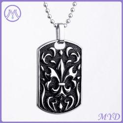 Modifica di cane Pendant del Black Fleur De Lis Flower dei monili dell'acciaio inossidabile di modo