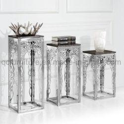 Le luxe moderne étagère de fleurs en acier inoxydable
