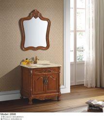 Armoire en bois avec miroir sanitaires