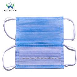 Comercio al por mayor de la máscara facial de smog anti polvo médicos desechables mascarilla quirúrgica Earloop 3ply Nonwoven Mascarilla facial de PM2,5