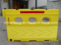 '' barriera di rotazione di plastica gialla di traffico della barriera del barraggio acquatico di sicurezza stradale 1420mm/56 per sicurezza stradale