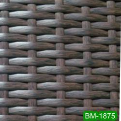 Tecelagem de fio preto PE Wicker para mobiliário de exterior (BM-1875)