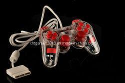 透過ワイヤーで縛られたパソコンのゲームのコントローラ(SP2506赤い)