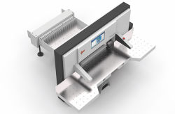 Taglierina di carta resistente idraulica ad alta velocità di controllo di programma della ghigliottina di alta qualità automatica piena