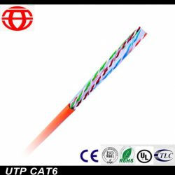 En el interior UTP CAT6 Cable de fibra óptica de datos para la comunicación digital