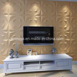 A arte moderna para prova de som de fundo TV 3D da placa na parede decorativa