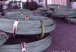 Linea di fili in acciaio con rivestimento epossidico