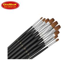 Commerce de gros Professional 10pcs manche en bois artiste de cheveux en nylon Paint Brush définie