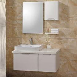 Armoire de la salle de bains moderne blanc avec deux Armoire de base (OP13-013-100)