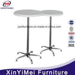 Hot Vente Bar Table et chaises en plastique avec pieds métalliques
