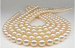 自然な塩水のAkoyaの真珠のネックレス2014の罰金の宝石類