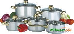 9pcs ustensiles de cuisine en acier inoxydable pot
