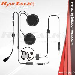 Два пути радио шлем мотоцикла микрофон гарнитуры открытые поверхности разъема для наушников