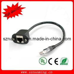 UTP Cat5e cabo de extensão de cabo de rede de montagem em painel