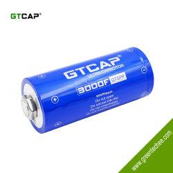 Gtcap مكثفات فائقة الطاقة كبيرة الدهرية 3000f