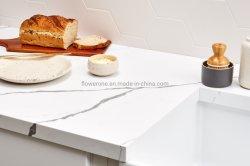 Porcellana fabbrica pietra quarzo lastra di marmo Bianco Calacatta pietra naturale Granito all'ingrosso superficie solida cucina personalizzata piano al quarzo piano di contrasto
