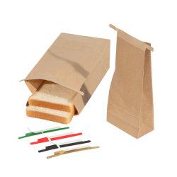 팝콘 음식 급료 Eco-Friendly 사탕 선물 빵 부대 Kraft 종이 봉지