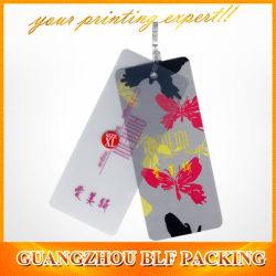 Ropa de impresión personalizada etiquetas de precio de plástico (BLF-T050)