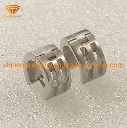 Collegare degli anelli dell'acciaio inossidabile di alta qualità 316L tagliato con gli orecchini d'acciaio Er1937 di Stainelss delle pietre