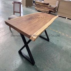[سليد ووود] طاولة حقيقيّة خشبيّة طاولة [دين تبل] خشب أثاث لازم