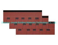 Plaqueta de asfalto reforzado de fibra de vidrio de color multicapa Tipo Villa asfalto techo de tejas de la construcción de techos de teja de resina