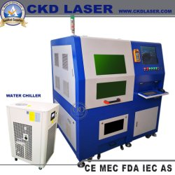 Kleine Laser-Bearbeitungsmaschine für das Schneiden von Metall-Schlüssel Messing Aluminium