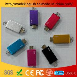 2019 neues Superminimetall-OTG USB-Blitz-Laufwerk/drehender zweifach verwendbarer USB-Stock für Computer und Telefon