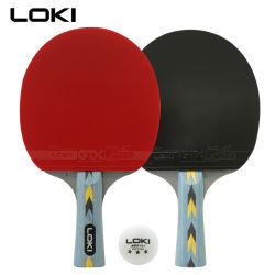 Lokiによってカスタマイズされるロゴ専門カーボン卓球ラケット卓球のバット