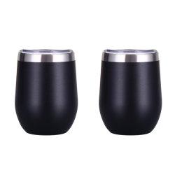 Wevi Acero Inoxidable 304 forma de huevo de la copa de vino negro