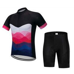 短い袖および不足分のジャージーのスーツの自転車のTシャツを循環させる人の運動スポーツ・ウェア