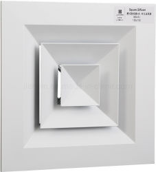 1-4 Vierkante Plafonddiffuser Luchtrooster Register