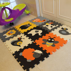 Mat van het Raadsel van de Vloer van het Schuim van EVA van het Tapijt van het Ontwerp van het Beeldverhaal van het Kind van de baby de Dierlijke